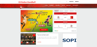Es Redon Handball website
